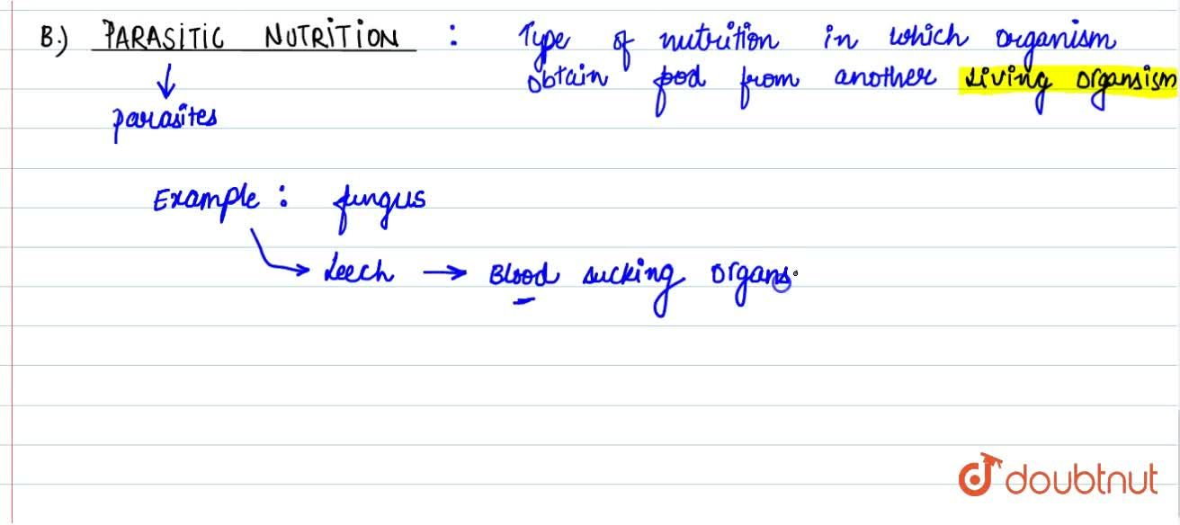 Solution for Nutrition And Its Types