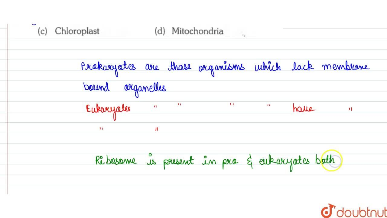 Solution for Which structure is present in both prokaryotic and