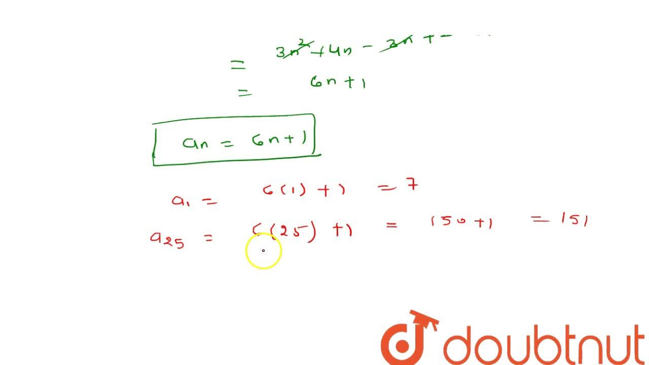 Solution for The sum of   first n terms of an   A.P. is 3n