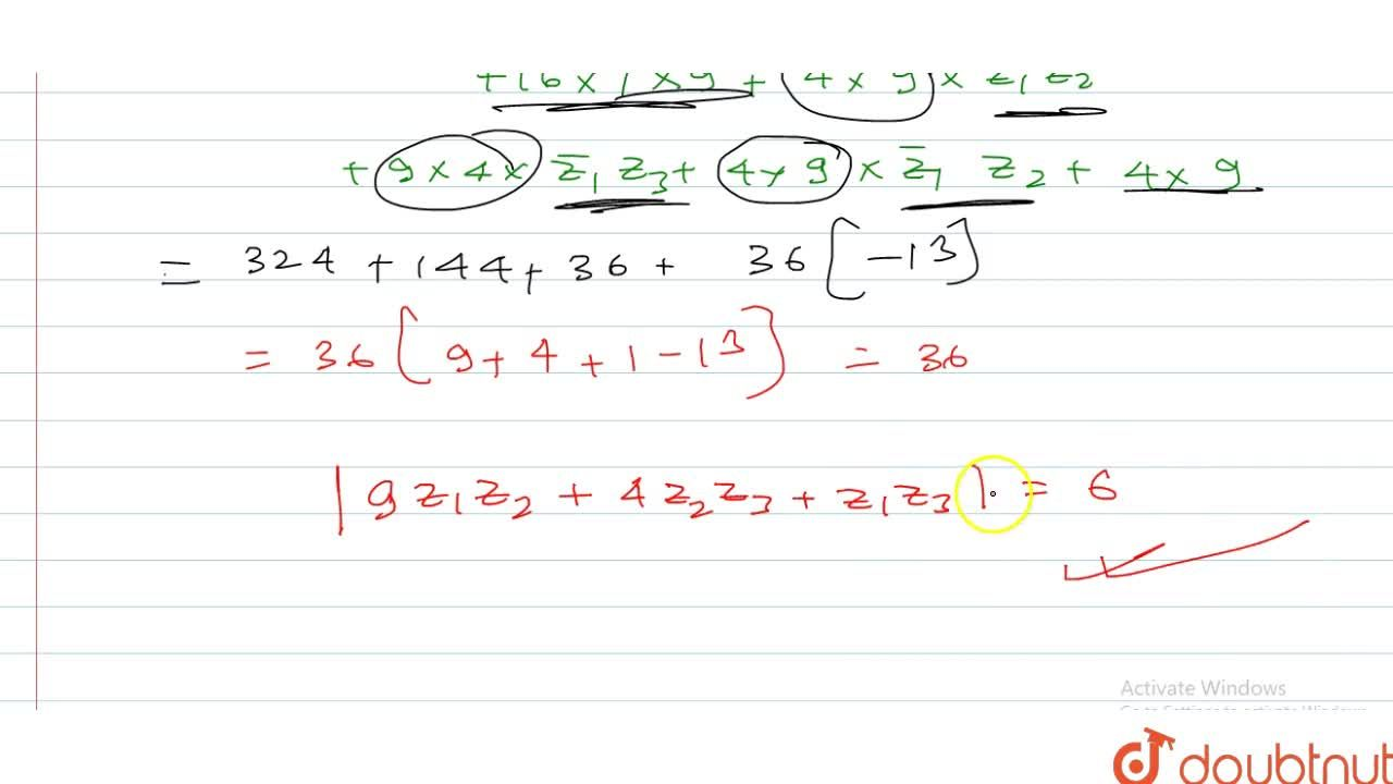 Solution for Let z_1,z_2,z_3 be three complex numbers such th