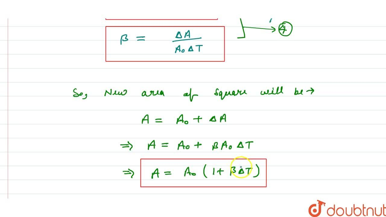 Solution for Superficial Or Areal Expansion