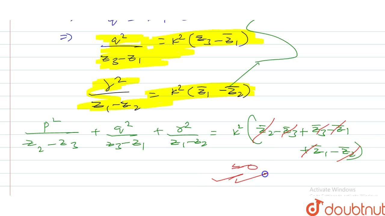 Solution for z_1,z_2,z_3 are complex number and p,q,r are rea