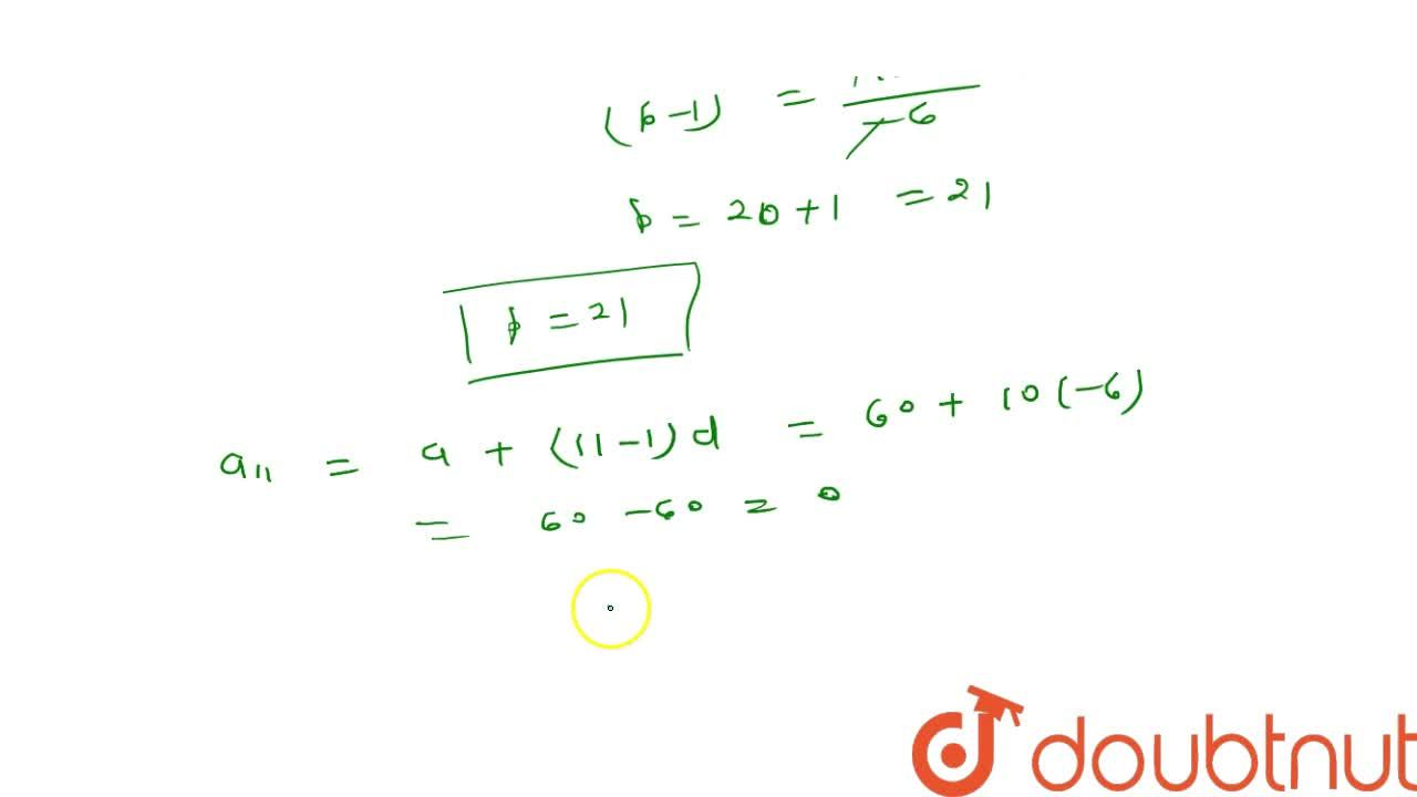Solution for The sum of   first q terms of an   A.P. is 63