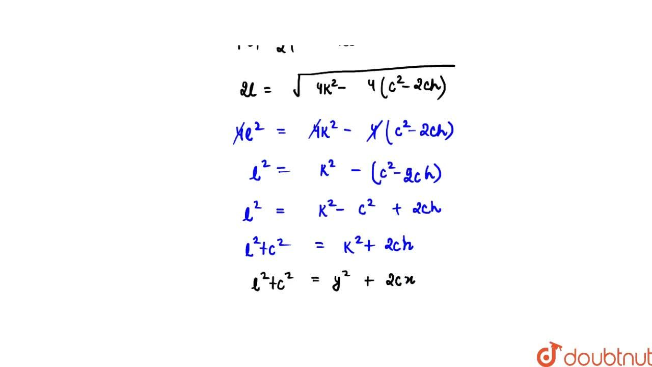 Solution for Find the locus of the centre of a circle which pas
