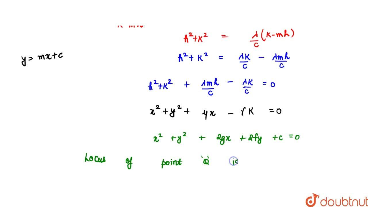 Solution for A straight line is drawn from a fixed point O me