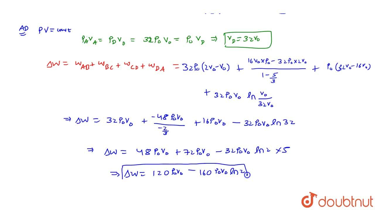 Solution for n moles of an ideal mono atomic gas is initially a