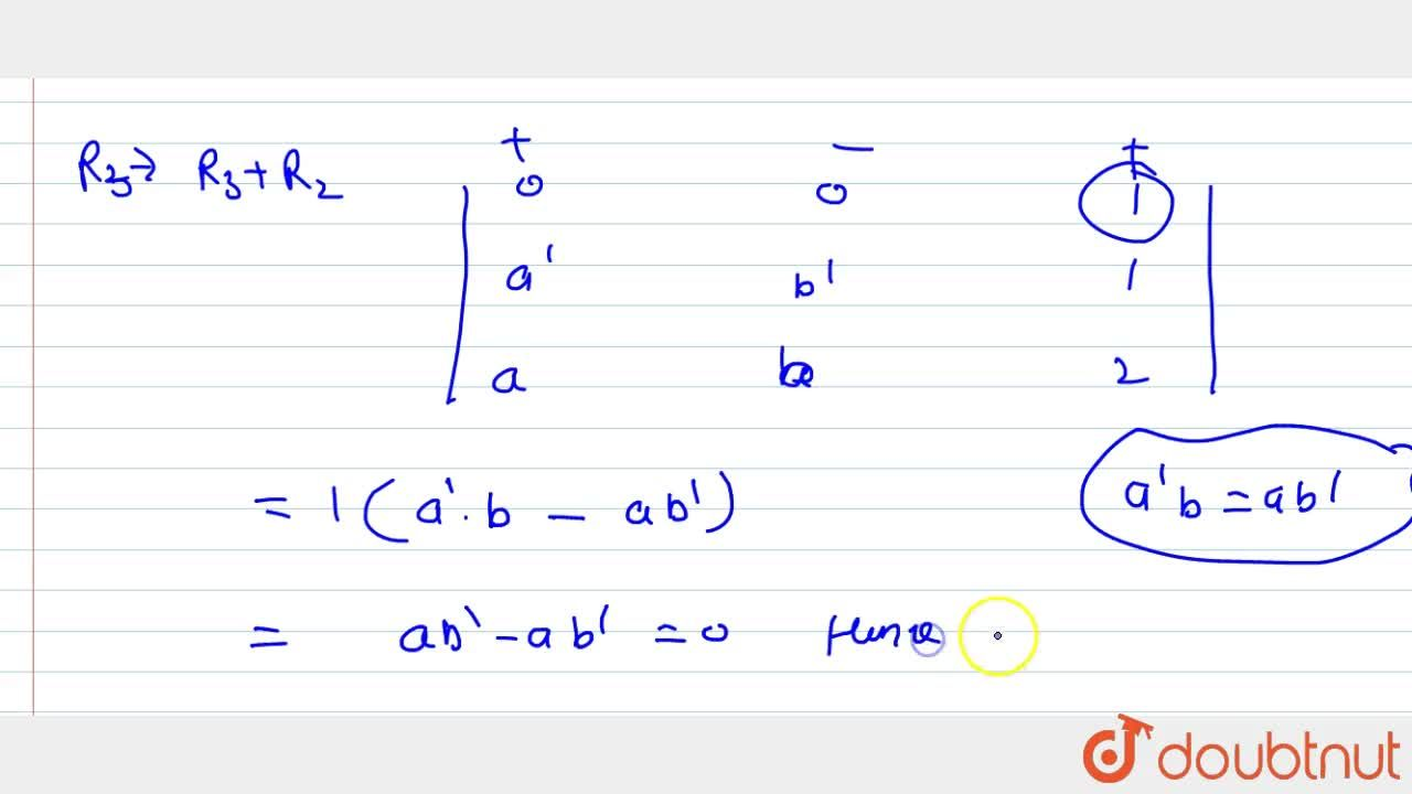 Solution for Using determinants   prove that the points (a ,\