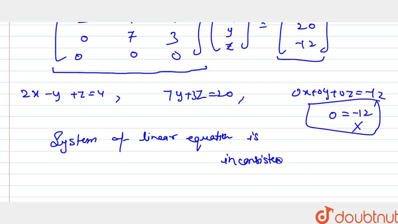 Solution for Using determinants,   show that the following sys