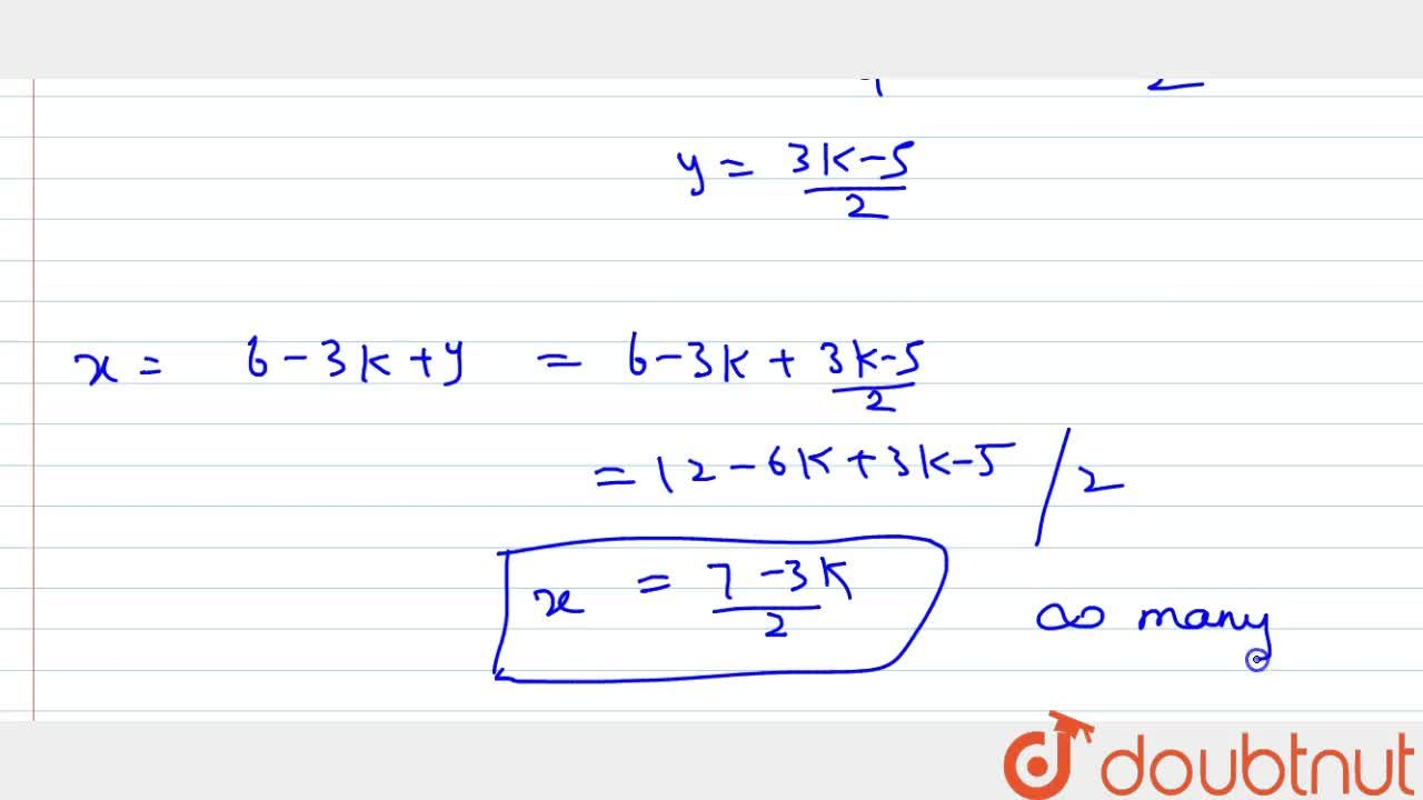Solution for Show that the following   systems of linear equat