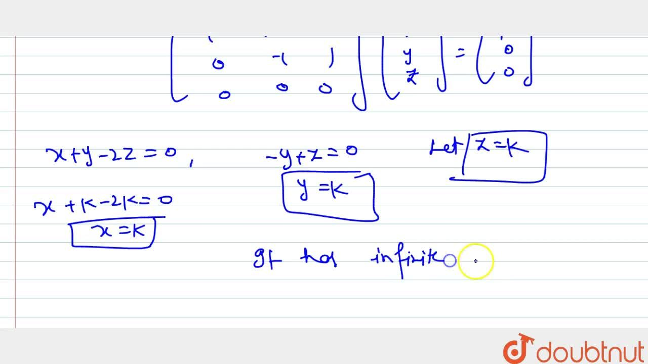 Solution for Solve following system   of homogeneous linear eq