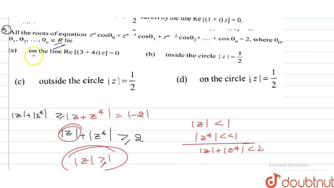 Solution for If 2+z+z^4=0, where z is a complex number then