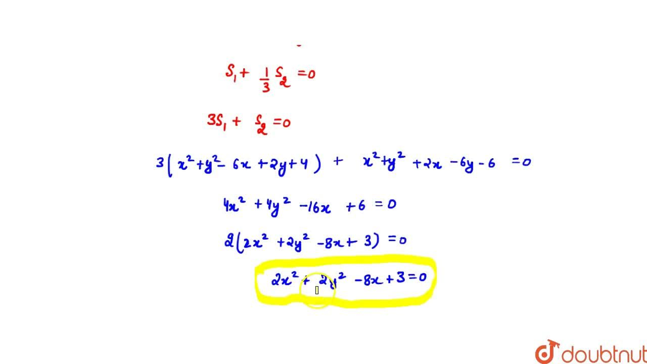 The equation of the circle passing through the point of intersection of the circles x^2 + y^2 - 6x + 2y + 4 = 0 and x^2 + y^2 + 2x - 6y - 6=0 and having its centre on y=0 is : (A) 2x^2 + 2y^2 + 8x + 3 = 0 (B) 2x^2 + 2y^2 - 8x - 3 = 0 (C) 2x^2 + 2y^2 - 8x + 3 = 0 (D) none of these