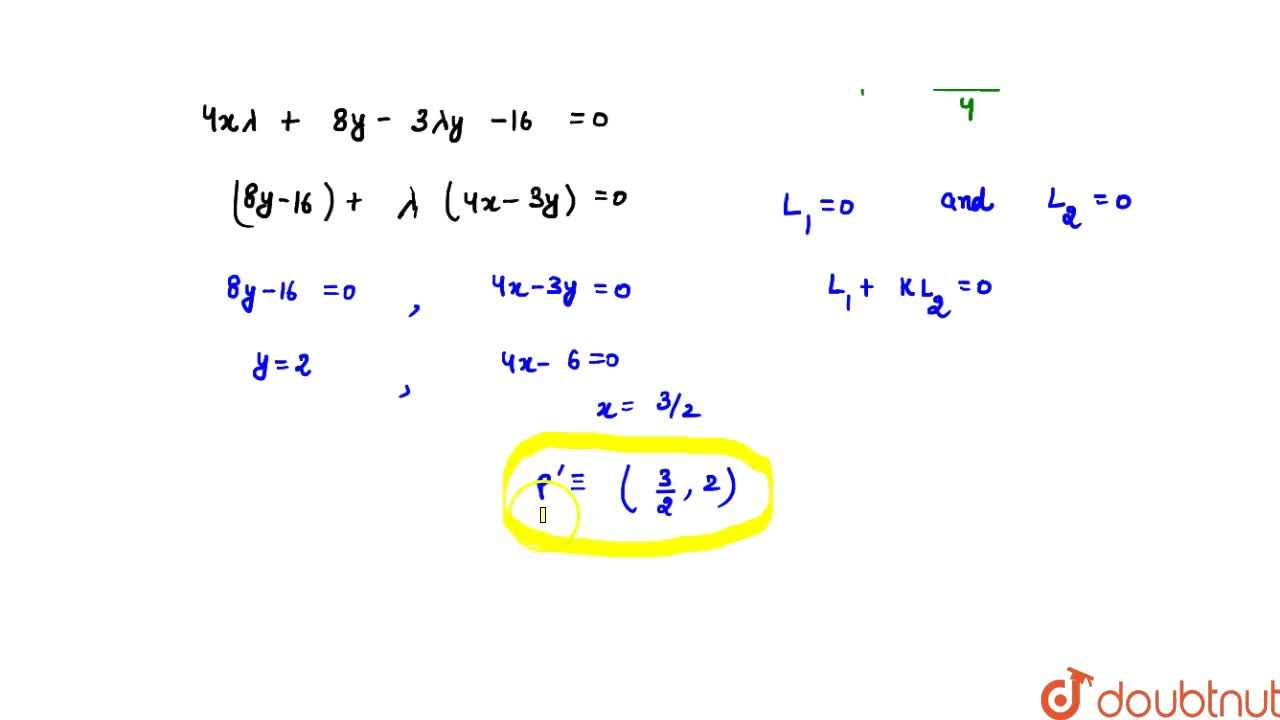 Solution for The chord of contact of the pair of tangents drawn