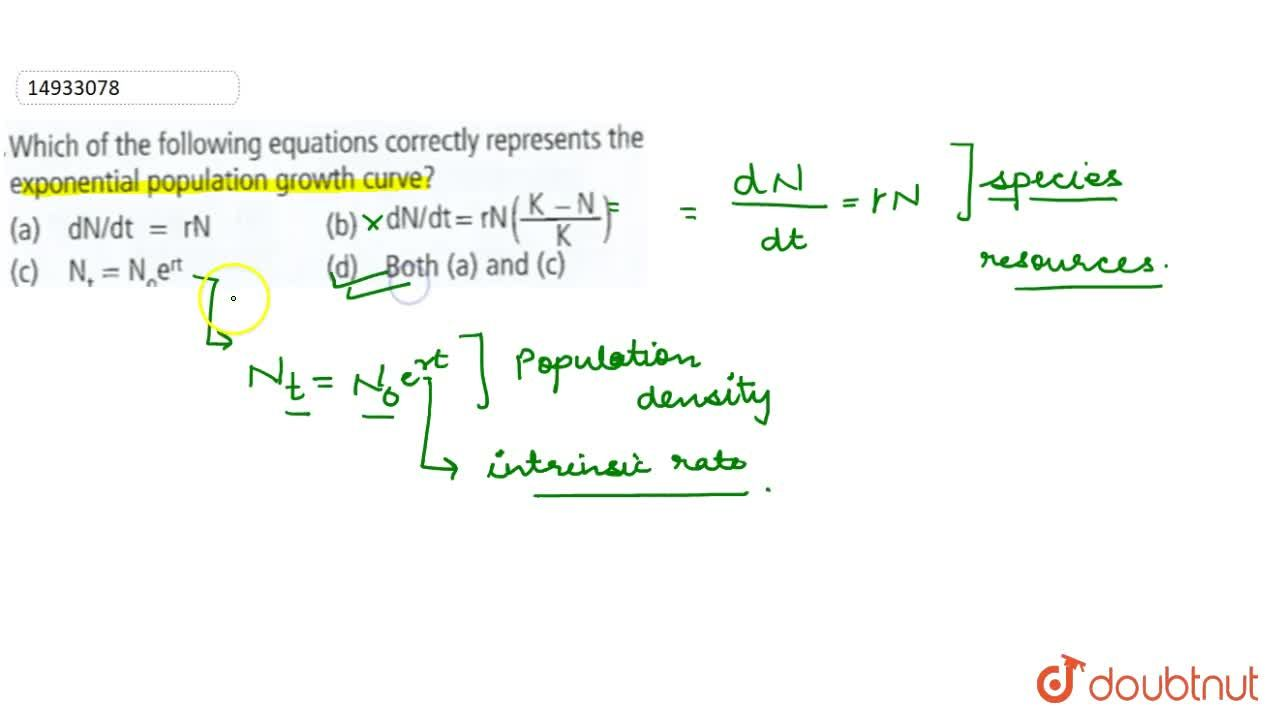 Solution for Which of the following equations corretly represen