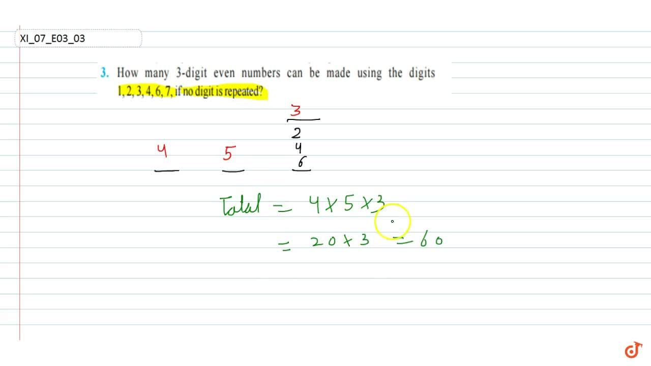 How many 3-digit  even numbers can be made using the digits 1, 2, 3, 4, 6, 7, if no digit is  repeated?