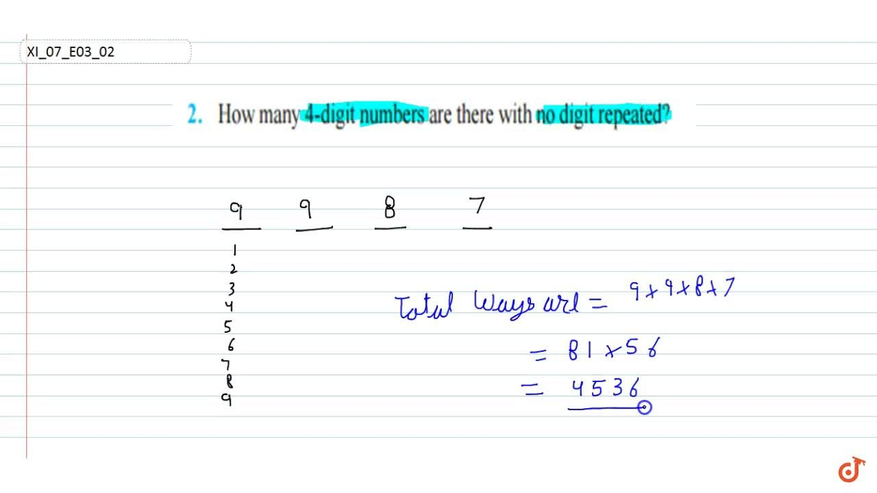 How many 4-digit  numbers are there with no digit repeated?