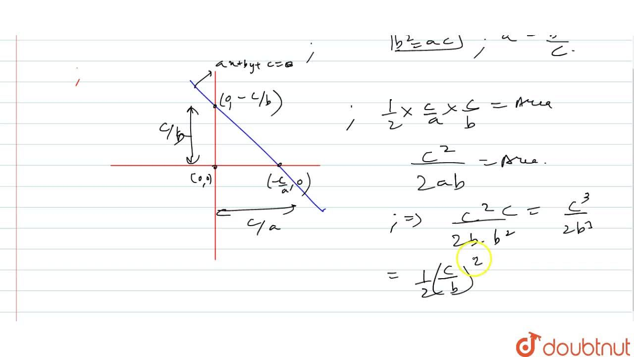 Solution for If a , b , c are in G.P. write te area of the tr