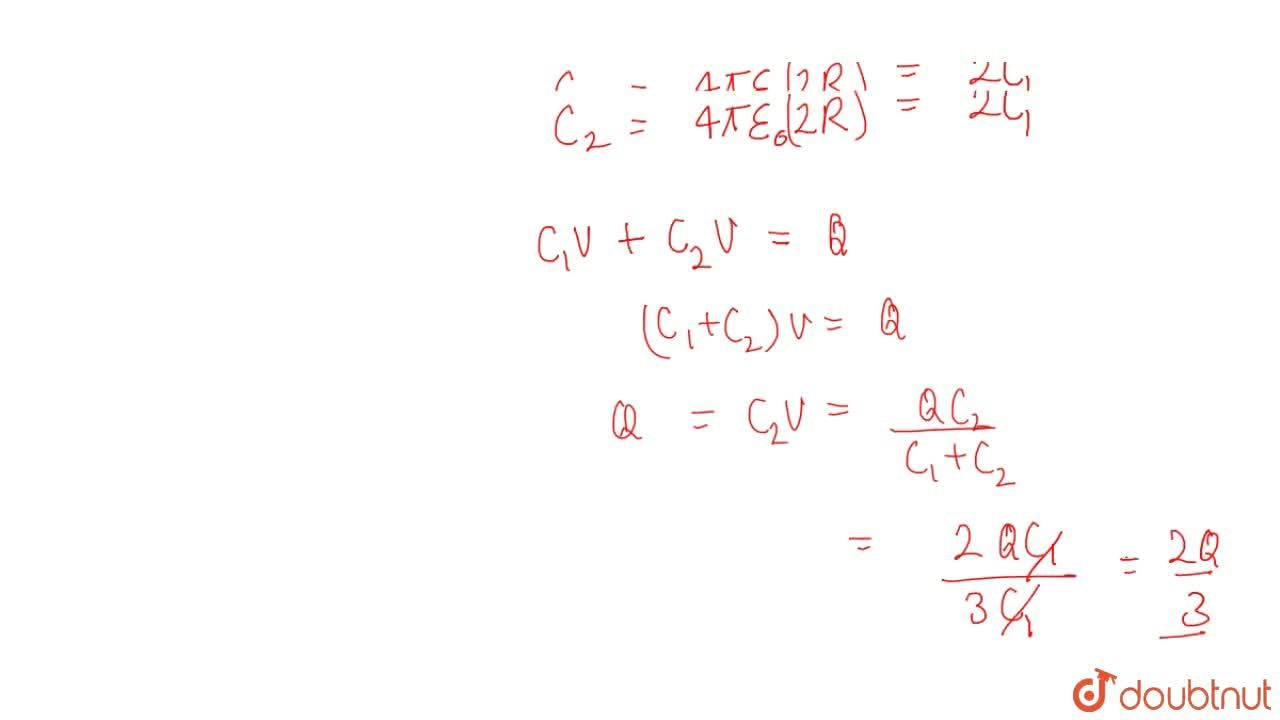 Solution for A conducting sphere of radius R and carrying a c