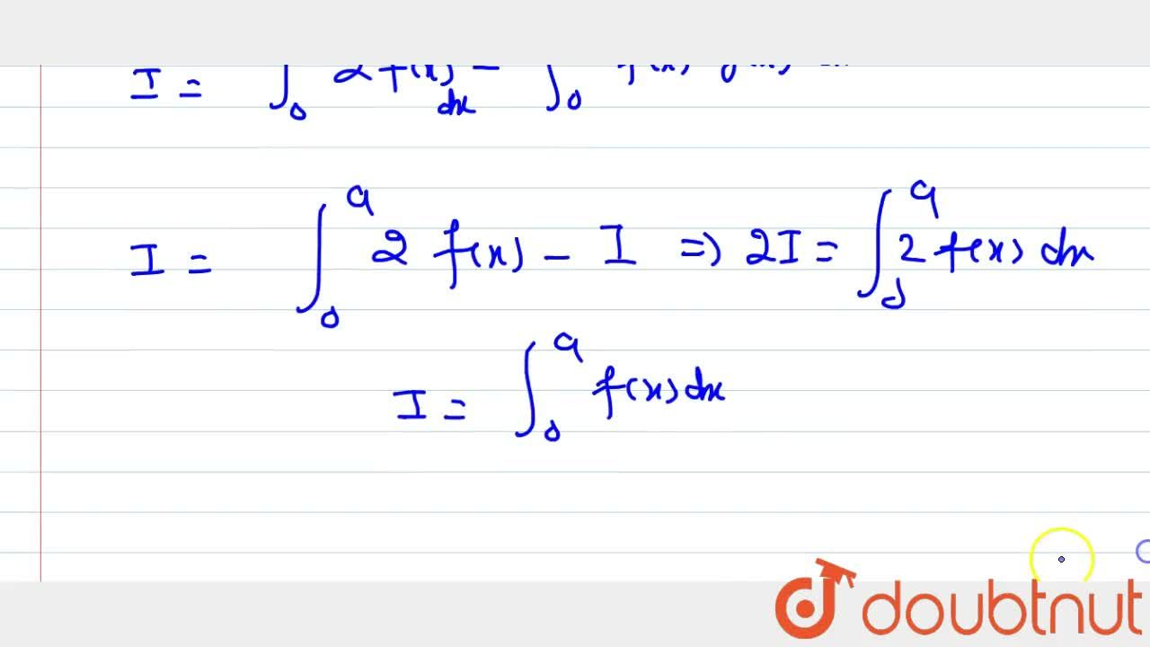 Solution for If f\ a n d\ g are continuious on [0,\ a] and