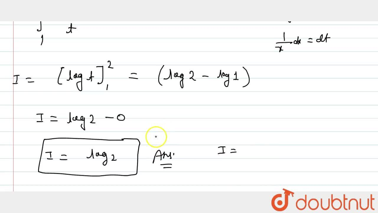 Evaluate each of the following integral: int_e^(e^2)1,(xlogx)dx