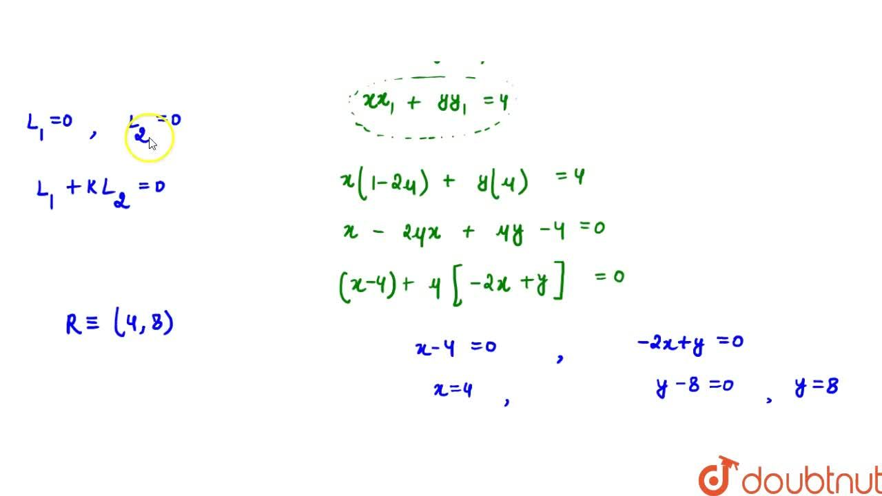 Solution for The chord of contact of the pair of tangents to th