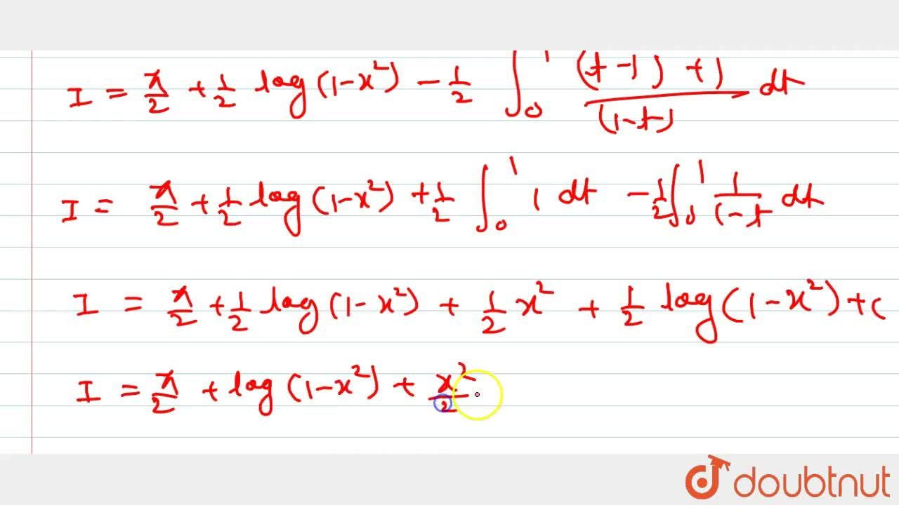 Solution for Evaluate: int_0^1sin^(-1)((2x),(1+x^2))dx