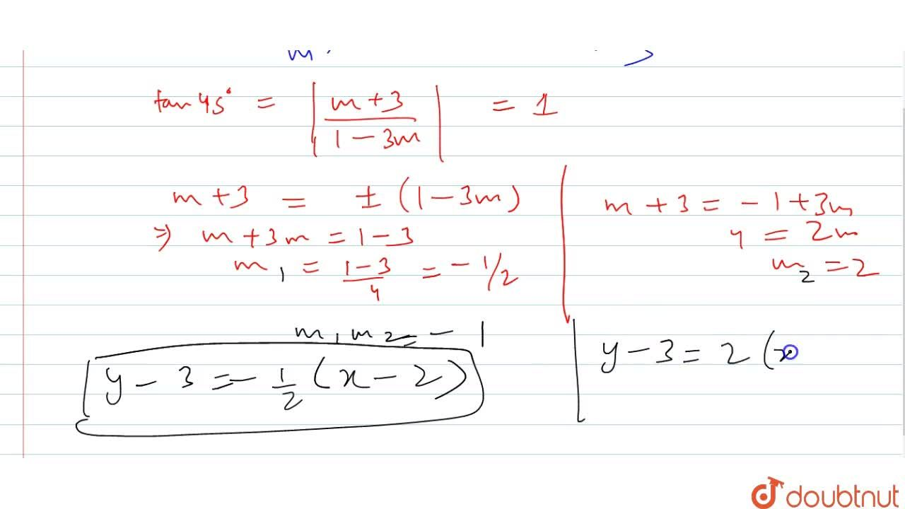 Solution for Find the equations t the straight lines passing th