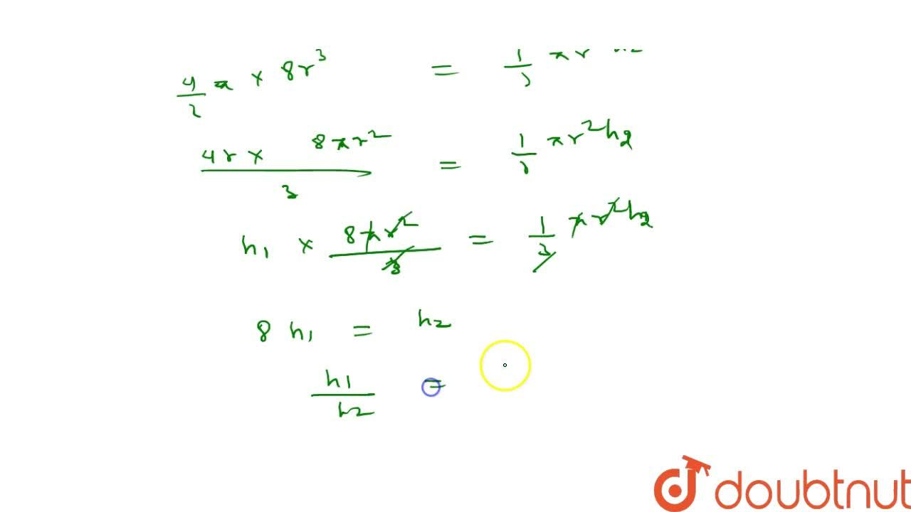 Solution for If a sphere   of radius 2r has the   same volu