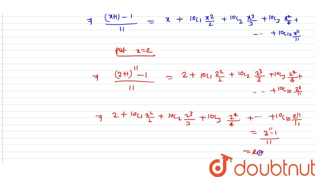 Solution for If C_r stands for ^10C_r show that 2.C_0+2^2,2.
