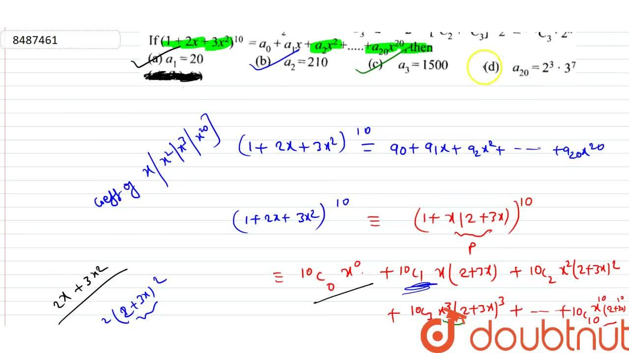 Solution for If (1+2x+3x^2)^10=a_0+a_1x+a_2x^2+……..+a_20x^20