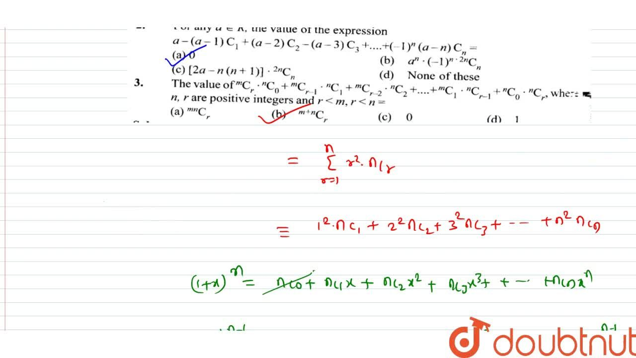 Solution for If n is a positive integer such that (1+x)^n=^nC_