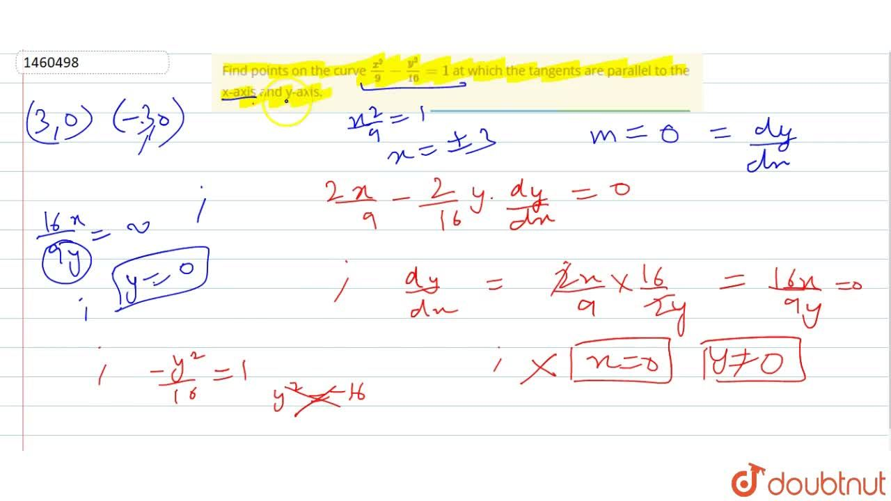 Solution for Find points on the   curve (x^2),9-(y^2),(16)=1
