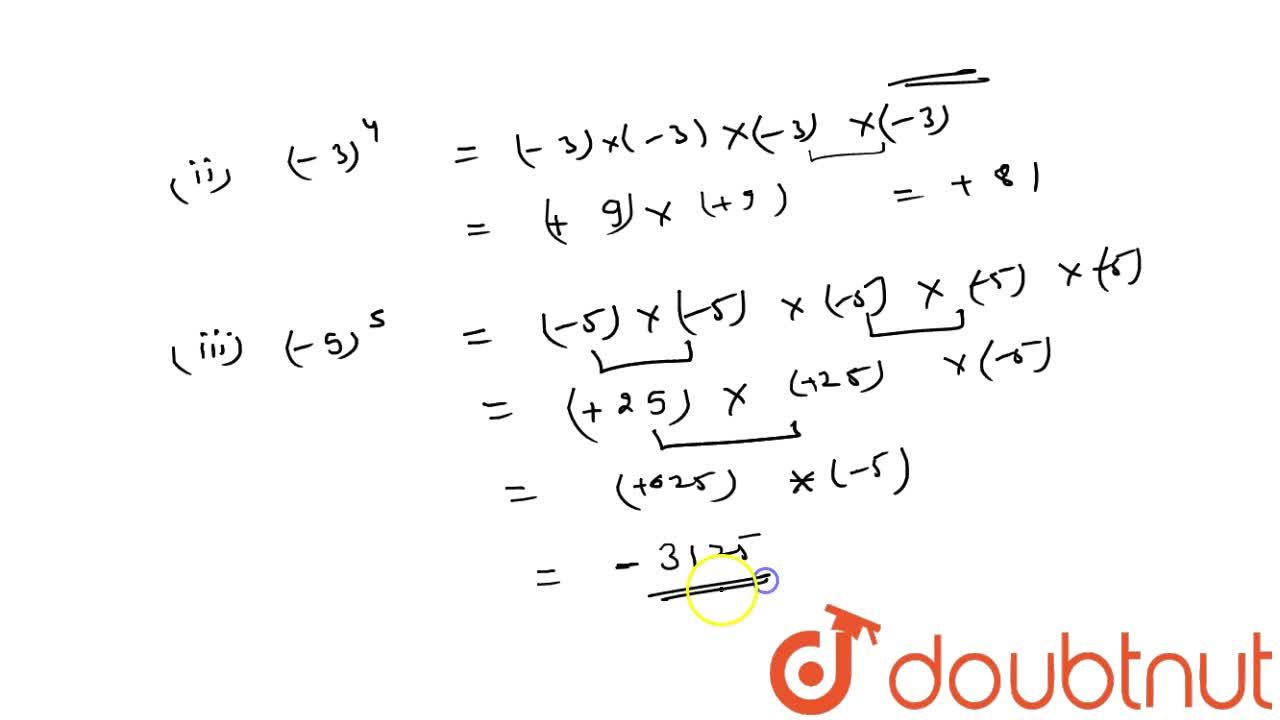 Solution for Find the value of each of the following: (-7)^2