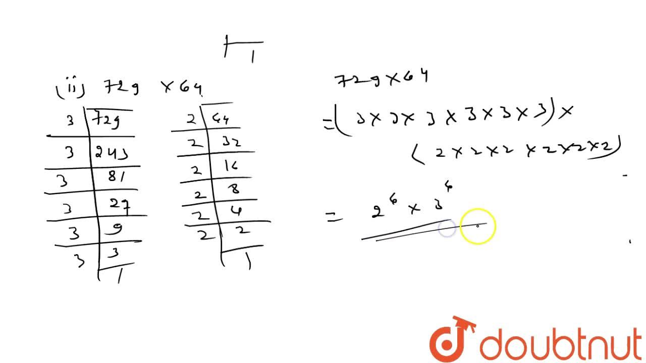 Solution for Express each of the following as a product of prim