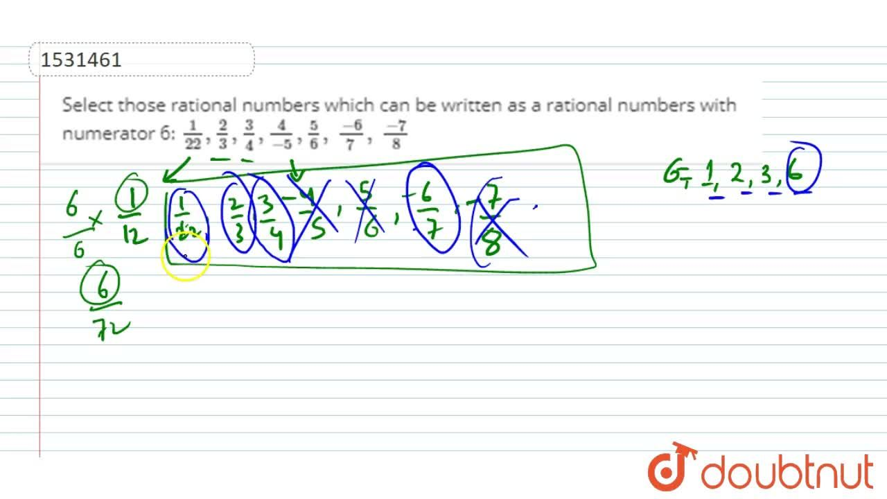 Solution for Select those rational   numbers which can be writ