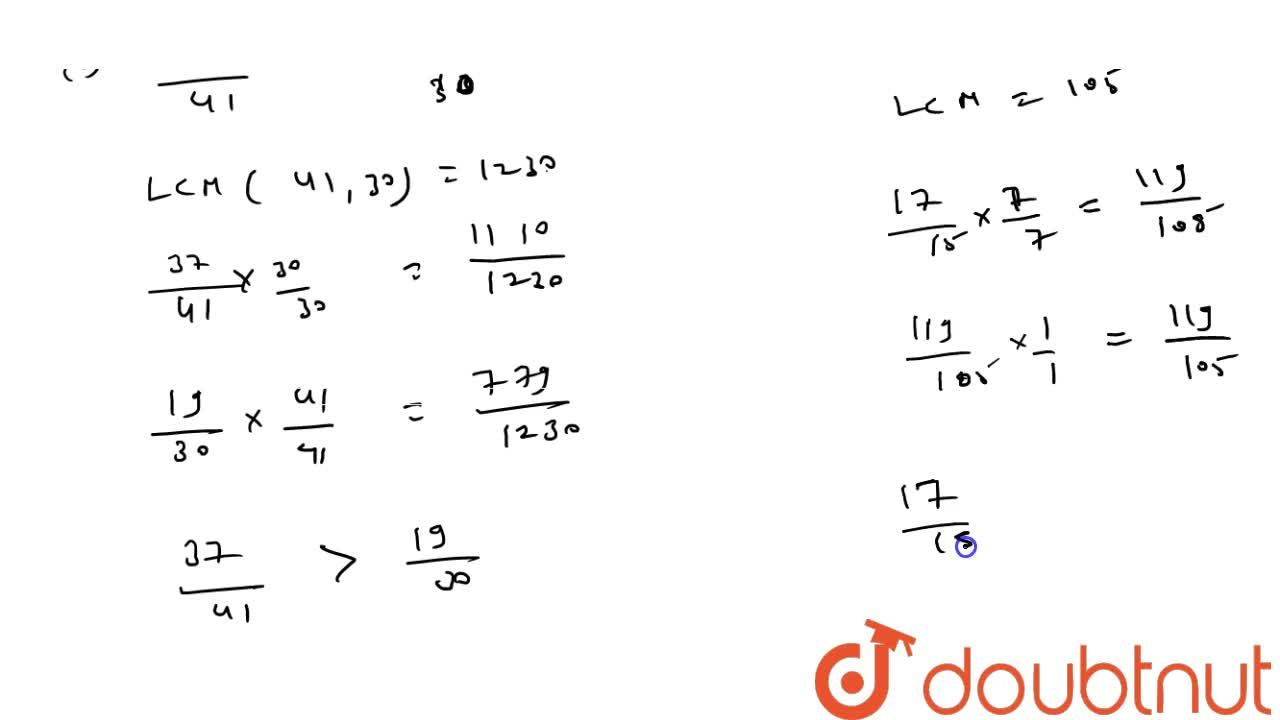 Solution for Compare the following   fractions by using the sy
