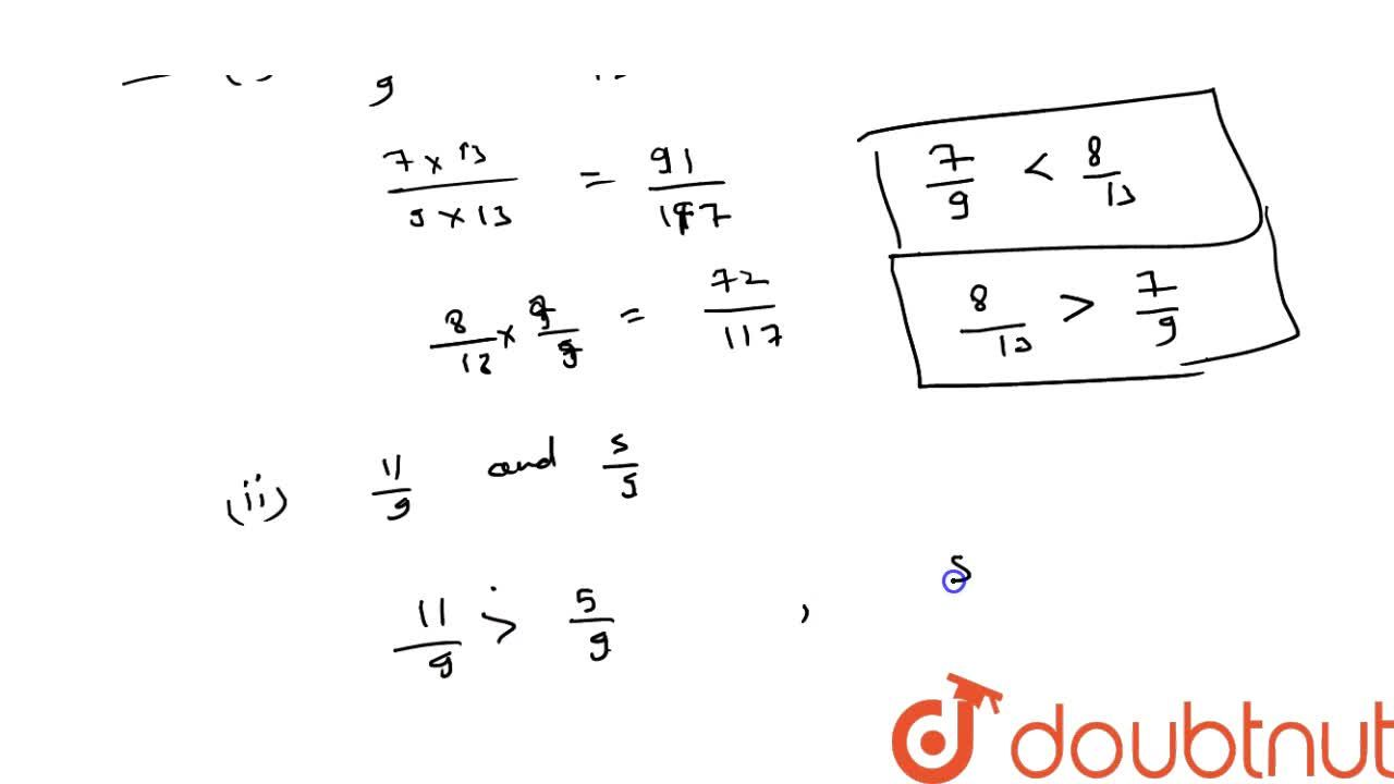 Compare the following