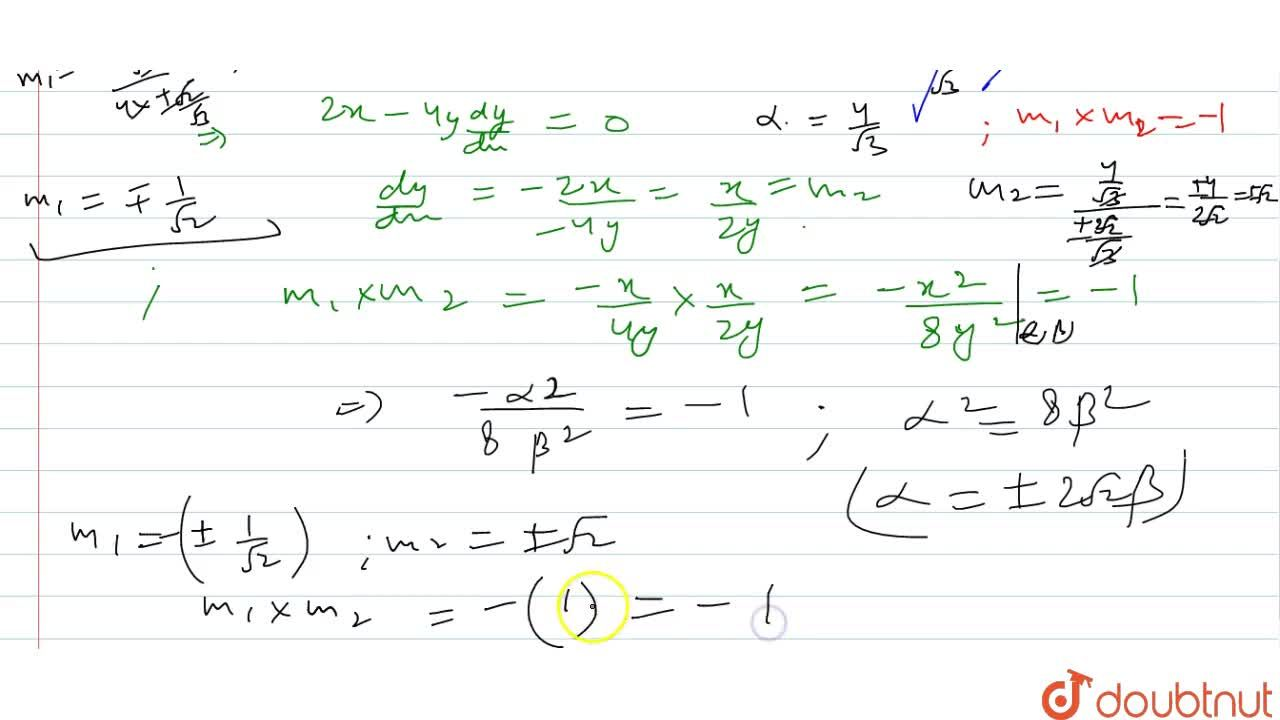 Solution for Find the angle of   intersection of curve x^2+4y