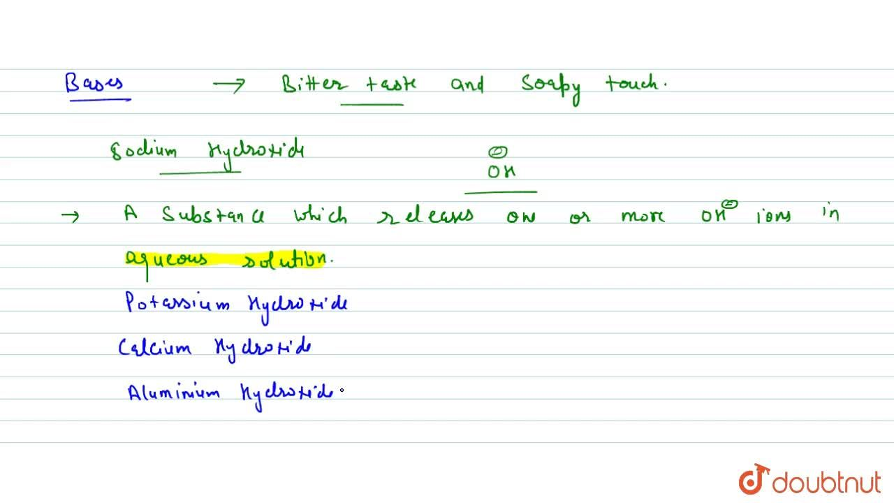 Solution for Introduction To Acids And Bases
