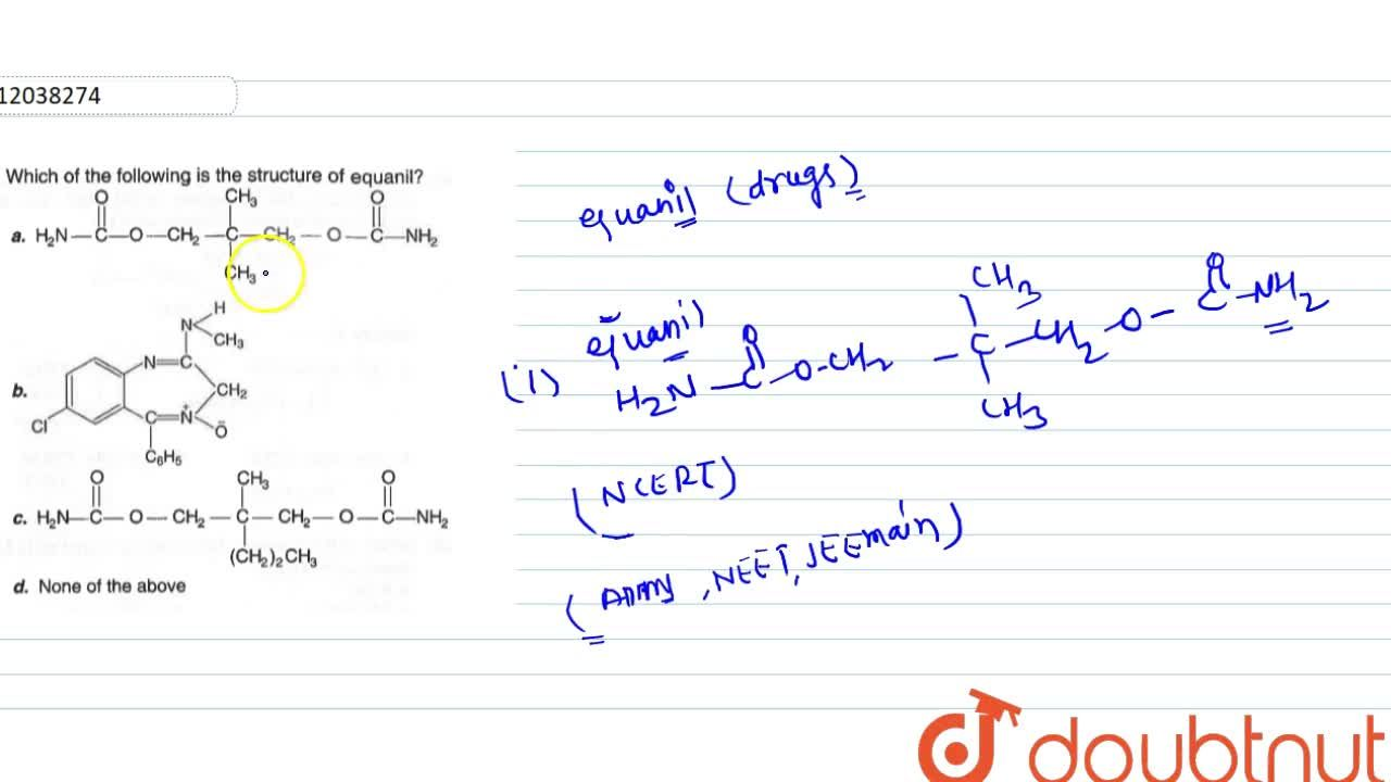 Solution for Which of the following is the structure of squanil