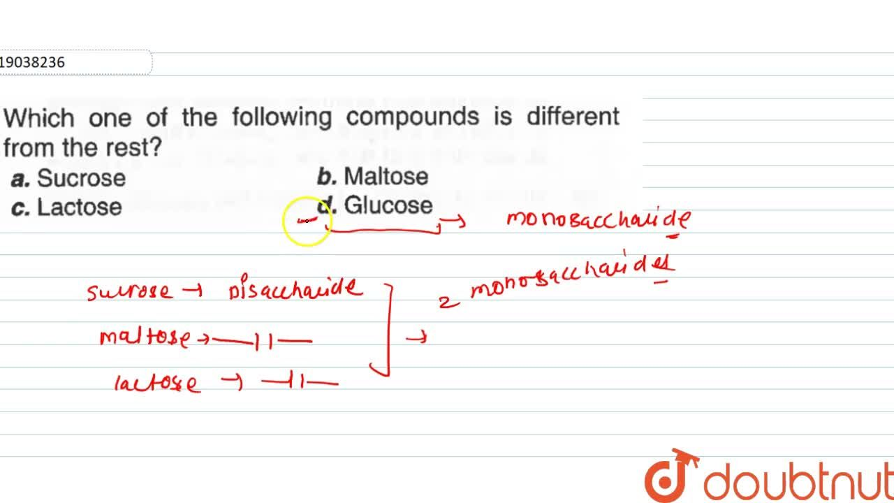 Solution for Which one of the following compounds is different