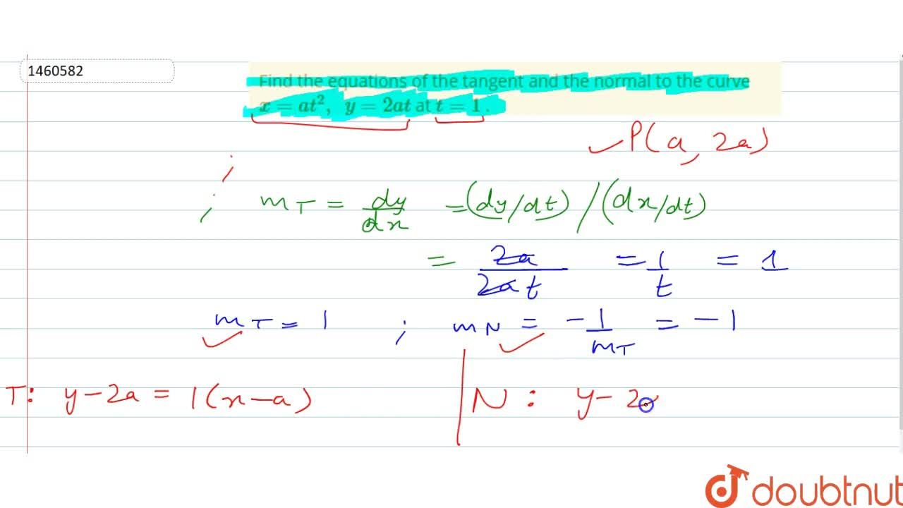 Find the equations of