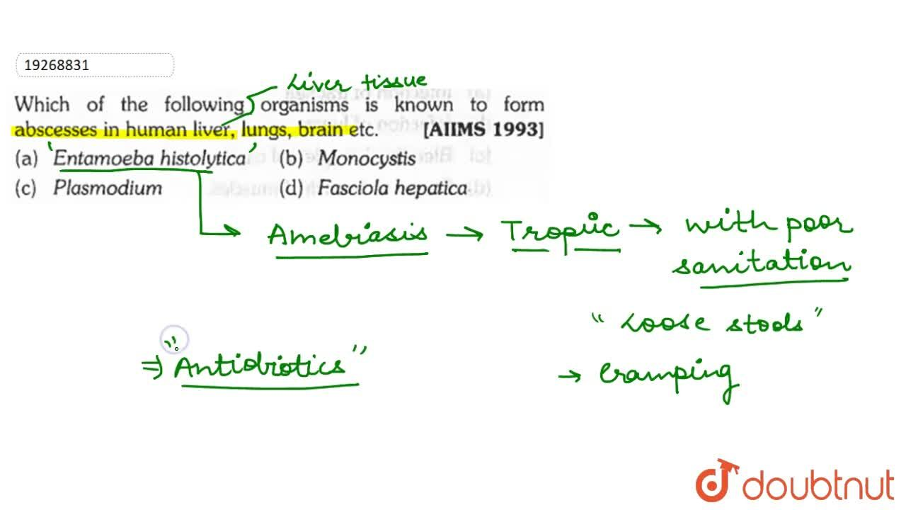Solution for Which of the following organisms is known to form
