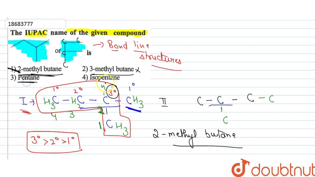 Solution for The IUPAC name of the given compound  <br> <img sr