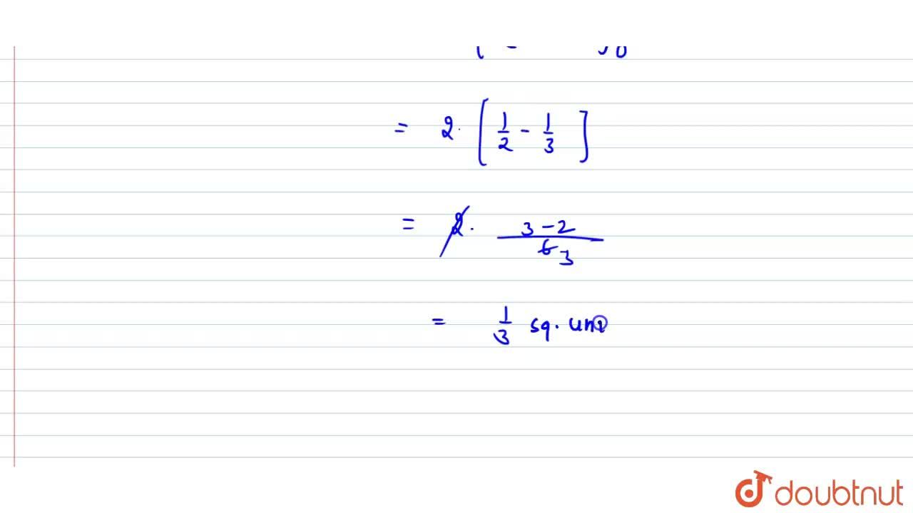 Find the area of the region bounded by the parabola y=x^2 and y=|x| .
