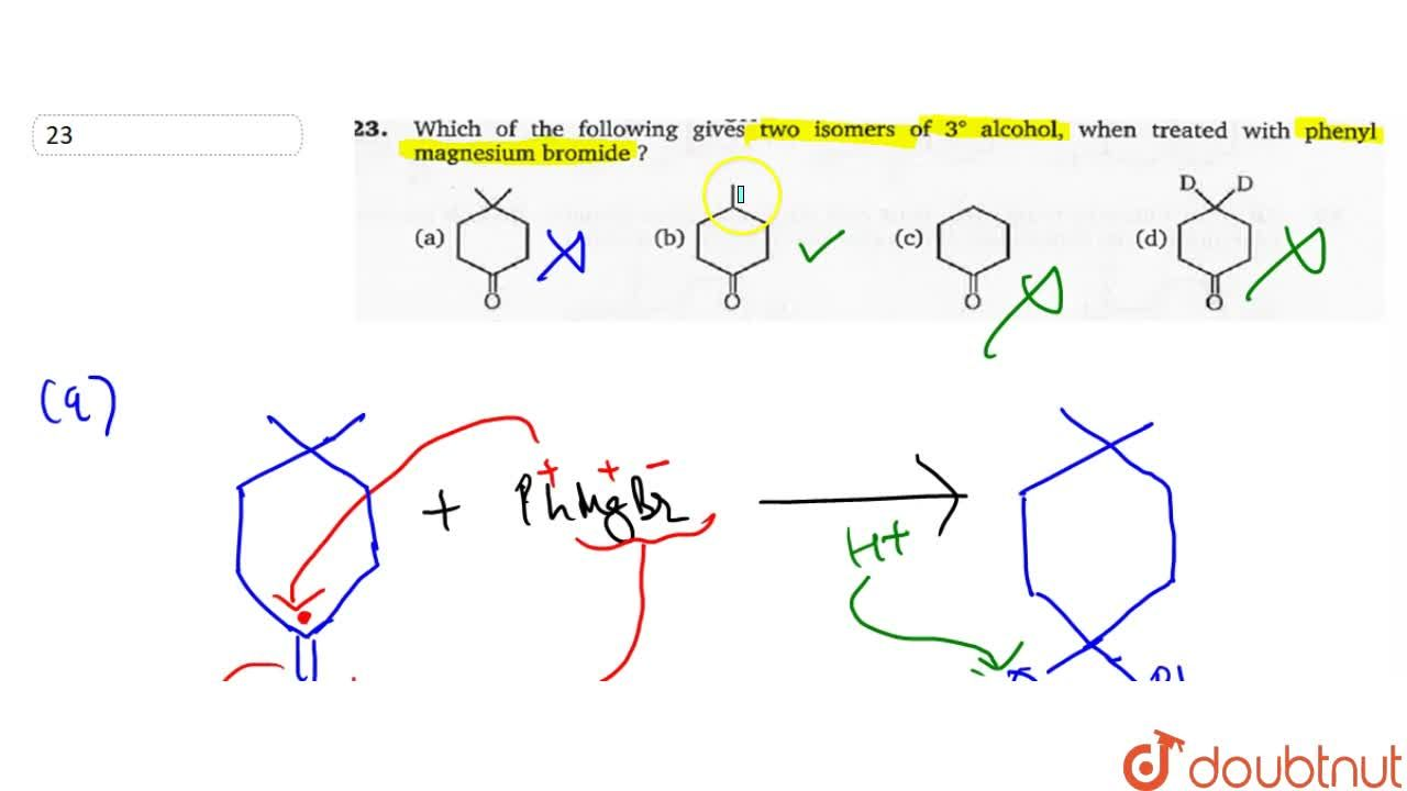 Solution for Which of the following gives two isomers of 3^(@)