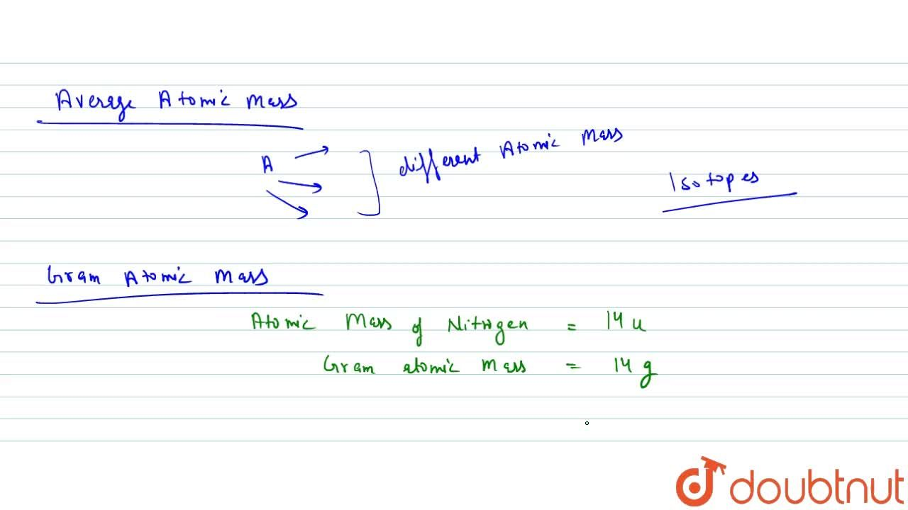 Solution for Concept Of Atomic Mass