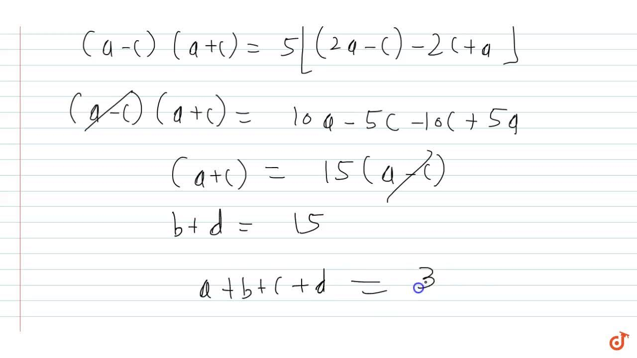 Solution for Let a,b,c,d be distinct real numbers and a and b