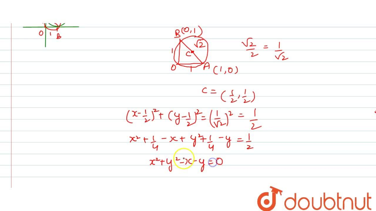 Solution for Tangents OA and OB are drawn from the origin to