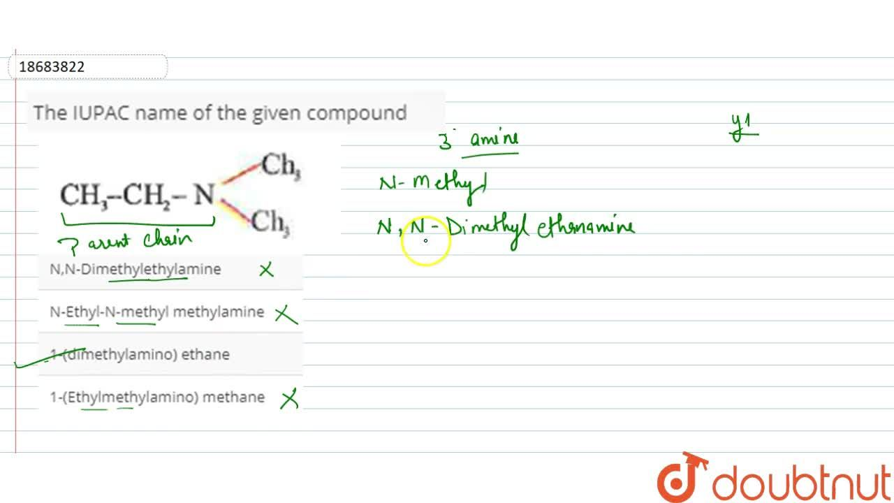 Solution for The IUPAC name of the given compound  <br>  <img s